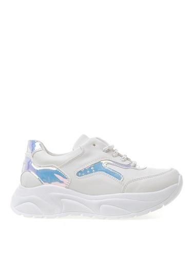 Limon Company Fane Suni Deri Parlak Detaylı Yüksek Nlı Bağcıklı Kız Çocuk Ayakkabı Beyaz